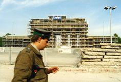 Berlin 1990 Abriss der Mauer vor dem Brandenburger Tor