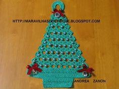 AS RECEITAS DE CROCHÊ: Enfeite de Porta Arvore de Natal em crochê