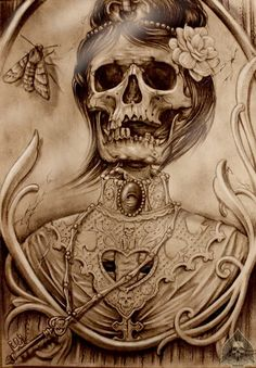 50 Awesome and Creepy Halloween Tattoos -DesignBump S Tattoo, Tattoo Fairy, Tattoos Skull, Tattoo Motive, Rose Tattoos, Tatoos, Zealand Tattoo, Desenho Tattoo, Skull And Bones