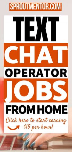 Here are live text chat operator jobs from home which will allow you to work from home. You will discover 30 online jobs hiring for chat support jobs, email support jobs and customer service jobs. Visit this post and learn how you can get paid to make money online through chatting and texting. #chatjobs #texting #chatting #onlinejobs #makemoneyonlinejobs #workfromhomejobs #sidejobs #parttimejobs Work From Home Companies, Work From Home Opportunities, Work From Home Tips, Customer Service Jobs, Make Money Online Surveys, Jobs For Teens, Best Online Jobs, Text Types, Legitimate Work From Home