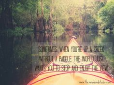 Manic Monday 6/10 – Finding Your Way Up A Creek Water Pollution Quotes, Manic Monday, Summer Months, Best Quotes, Finding Yourself, Country, World, Best Quotes Ever, Rural Area