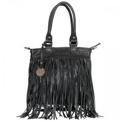 Cadelle Black Leather Bags | Fringe bags | I Love Handbags – ilovehandbags.com.au