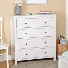 White Finish,(,300) Dressers: A wide variety of styles, sizes and materials allow you to easily find the perfect dresser or chest for your home. Free Shipping on orders over $45!