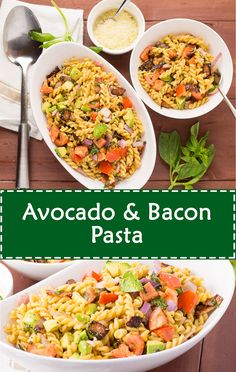 Avocado & Bacon Pasta
