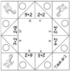 Games - Multiplication tables from 2 to 9 - The school of cr .- Jeux – Les tables de multiplication de 2 à 9 – L ecole de crevette Games – Multiplication tables from 2 to 9 – The Shrimp School - Multiplication Activities, Fun Math Games, Multiplication And Division, Math Activities, Multiplication Tables, Table Addition, Geometry Practice, Math Tables, Math Tutor