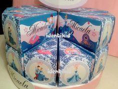 CENICIENTA-Cinderella torta souvenir, de cajas en forma de porcion de torta con golosinas, www.facebook.com/identikid tuidentikid@yahoo.com.ar