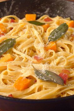 This fettuccine with fontina cheese sauce and roasted butternut squash is serious competition for alfredo.