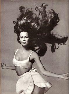 Big hair - Lauren Hutton, shot by Richard Avedon for US Vogue June 1968