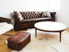 LOVE THIS!!  But who has time to scour flea markets?  Vintage Wood and Travertine Coffee Table