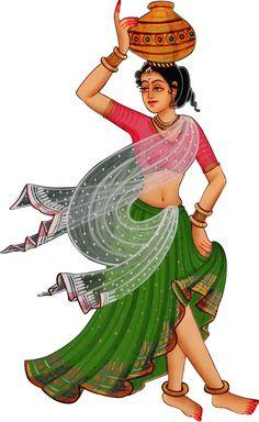 Rajasthani Painting, Rajasthani Art, Indian Traditional Paintings, Indian Art Paintings, Madhubani Art, Madhubani Painting, Saree Painting Designs, Flower Art Drawing, Dancing Drawings