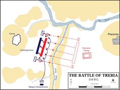 Fought on December 18, 218 BC, the Battle of the Trebia.