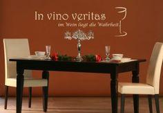 en vino veritas wall art | Wandtattoo - In vino veritas - im Wein liegt die Wahrheit - 70x22cm ...