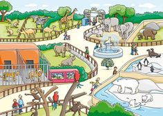 Images of zoo drawing for kids -