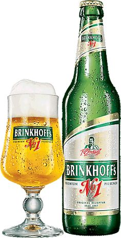 Cerveja Brinkhoff's Premium Pilsner No. 1, estilo German Pilsner, produzida por Brauerei Brinkhoff, Alemanha. 5% ABV de álcool.