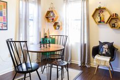 The dining chairs are from Wayfair.