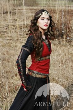 Lady Hunter flax-linen medieval west bodice for sale