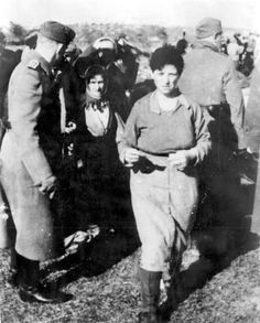 Ukraine, Lubny, October 1941, Jews brought to the site of their execution by Einsatzkommando 11b.