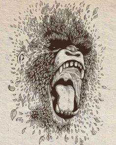 Running out the forest – Illustration par Daniel Teixeira | Ufunk.net