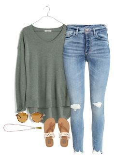 """Untitled #1183"" by southernstruttin on Polyvore featuring Madewell, Billabong and French Connection"