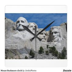 Mount Rushmore clock