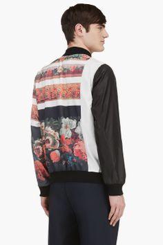 MIHARAYASUHIRO White Multi Flower Print Bomber Jacket