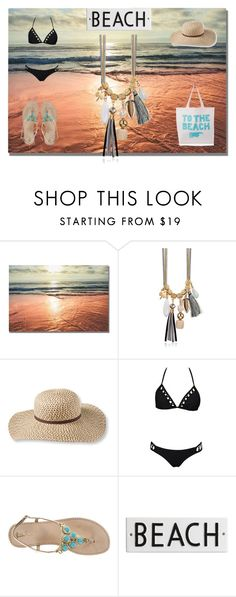 """""""GO TO THE BEACH"""" by evermarkerofficial ❤ liked on Polyvore featuring L.L.Bean, Lilly Pulitzer, Rosanna and ALPHABET BAGS"""