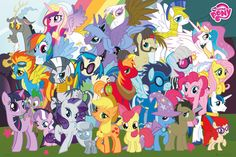 My Little Pony Characters - Official Poster. Official Merchandise. Size: 61cm x 91.5cm. FREE SHIPPING