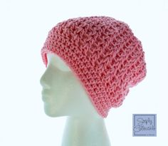 Desert Hope Slouch Beanie - This soft, beautiful hat was design for a special friend undergoing chemo. Custom orders are welcome and the pattern is free.