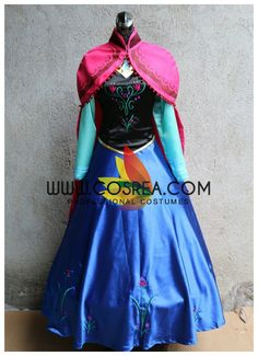 Frozen Anna Winter Outing Cosplay Costume