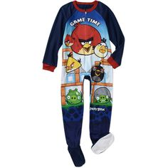 Rovio Boys' Angry Bird Footed Blanket Sleeper Pajamas $10 (Walmart USA)