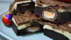 Baking the perfect Cadbury Creme Egg Brownies