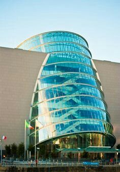 Amazing Architecture Around the World - The new Dublin Convention Centre by Architect Kevin Roche. Unusual Buildings, Interesting Buildings, Amazing Buildings, Modern Buildings, Architecture Design, Futuristic Architecture, Beautiful Architecture, Contemporary Architecture, Classical Architecture