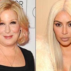Hot: Bette Midler uses Kim Kardashian selfie to make charity plea