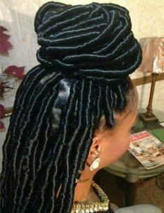 DIY Simple Faux Locs Tutorial Using Your Natural Hair. Faux Locs<br> If you love locs, but don't want it to be uncomfortable or heavy. Here is a simple diy method that will save you time and money. And, you get to look good! Urban Hairstyles, Faux Locs Hairstyles, Protective Hairstyles, Girl Hairstyles, Black Girl Braids, Girls Braids, Ayurveda, Curly Hair Styles, Natural Hair Styles