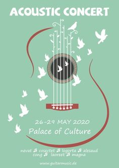 Acoustic Concert 2 poster template, How to make an Acoustic Concert 2 poster. Event Poster Design, Poster Design Inspiration, Graphic Design Posters, Musikfestival Poster, Poster Generator, Plakat Design, Music Illustration, Concert Posters, Event Posters