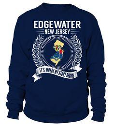 Edgewater, New Jersey Its Where My Story Begins T-Shirt #Edgewater
