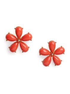 our crimson petal studs
