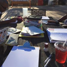 Beautiful day for some Sketchbooks and Chill time at the Goat Farm @sketchbooksandchill #sketchbooksandchill
