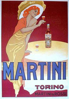 Vintage Italian Posters ~ #illustrator  #Italian #posters ~ Marcello Dudovich, Martini.