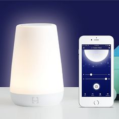The Hatch Baby Rest Sound Machine is controlled from your smartphone, offering soft light for late diaper changes, or soothing sounds for nursing sessions. Providing comfort for your little one throughout the night, adjust the color, brightness and sound. Hatch Baby, Baby Sounds, Baby Night Light, Baby Invitations, 2nd Baby, Baby Registry, Cool Things To Buy, Baby Things, 3rd Child