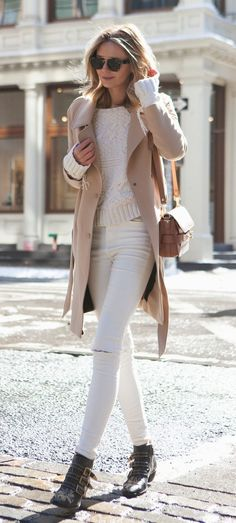 Winter Style Ideas. White and camel on Tuula Vintage