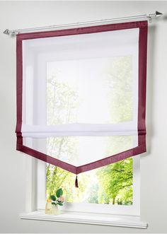 Прозрачная римская штора