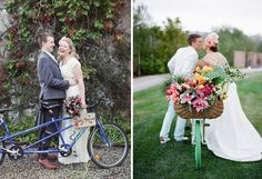 THE BICYCLE : This humble mode of transport has been a wedding favourite for a while now, and is still as popular, be it for a photo prop or decor idea. Esp. love the minty one here, notice how the wheel's been painted too? Nice!