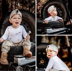 Country Baby Photos, Baby Boy Photos, Photography Mini Sessions, Kids Photography Boys, Cute Kids Pics, Cute Baby Pictures, Toddler Boy Pictures, Baby Mechanic, Boy Photo Shoot