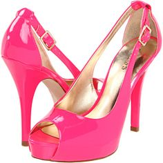 I've been on the hunt for more hot pink stilettos since I wore my last pair out - these would do nicely. Guess - Hondo.