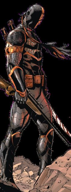 Drawing Dc Comics Slade Wilson in Deathstroke Comic Book Characters, Comic Character, Comic Books Art, Comic Art, Slade Teen Titans, Deathstroke The Terminator, Superhero Images, Dc Comics Art, Batman Universe