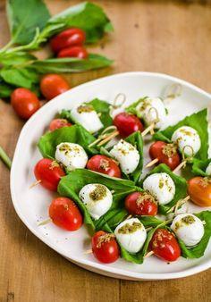 Tomato & Mozzarella Caprese Skewers