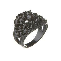 Black Diamante Ring  LOVE THIS!! :)
