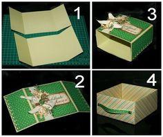 Коробочка для подарка в технике оригами