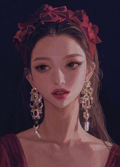 Chinese Artwork, Digital Art Anime, Art Drawings Beautiful, Face Sketch, Cg Art, Anime Art Girl, Anime Girls, Character Concept, Find Image